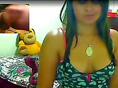 Desi Latina girl rai strips over cam