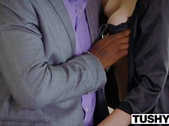 TUSHY Huge black cock stretches wifes asshole