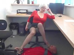 Office milf gives harsh handjob dates25com