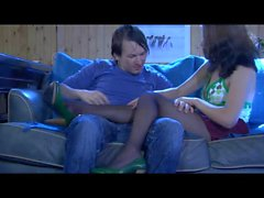 Laura&Rolf naughty nylon feet movie