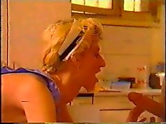 two guys double stuff their housemaid on the table