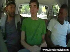Big muskulösen schwarze Homosexuell Jungen zu erniedrigen weiße twinks Kern 12