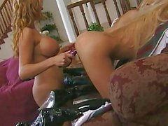 3 hotties in action with their toys