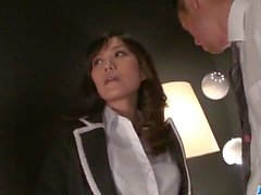 Sexy trio experience with lovely Manami Komukai