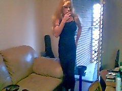 Kathy Sexy schwarz Kleidungs Rauch