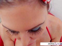 Assista Jessica Jaymes chupar seu grande galo suculenta gordura