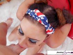 Katso Jessica Jaymes imevät Big Fat mehukas kukko