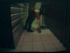 Adorable brunette hospital hidden cam footage
