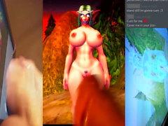 Cum hyllning till Lethi (Night Elf, World of Warcraft)