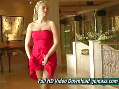 Алисон Angel секси Красное платье Действует аналогично Fashion Model