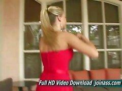 Alison Angel A Sexy Kırmızı Elbise Elçilerin Like A Fashion Model
