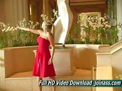 Red Dress d'alison Ange Le sexy de Agit comme Mannequin