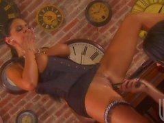 Tanya Jakob sowie Tory Lane auf lesbische Vierer