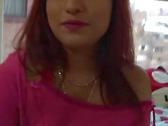 OyeLoca Red hair latina Crystal Salzedo shaved pus