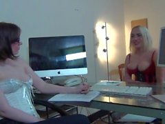 Sookie blues fucked by dominatrix in interview. Roleplay