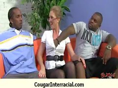 Interracial cougar hard sex 8