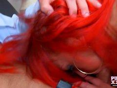 Cute British redhead enjoys a good fucking