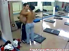hidden cam - sexy latina gets fucked in gym