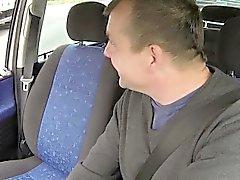 Любительского Анал CarSex со большой сиськи блондинки