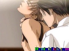 Gebunden Hentai Homosexuell Twink erhält hardcore gefickt zu
