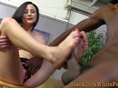 interracial footjob babe porn