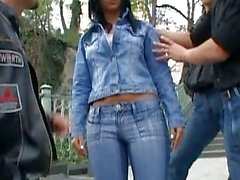 Outdoor XXX Fun with Babes in Tight Jeans