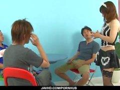 Strong scenes of hardcore along Asian maid, Miku Airi