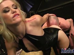 Horny stud bangs his nasty chick