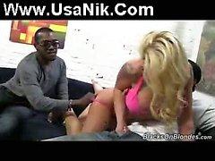 Interracial gang bang fake boobs
