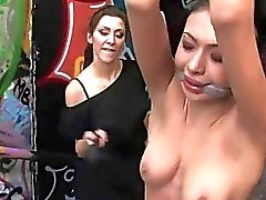 Hot siren receives a excruciating group torture