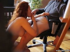 On Your Knees Redhead Blow Job