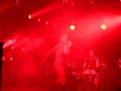 german kinky female singer nude on stage in concert 2