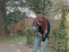 WHP Hazel Soaking Her Jeans