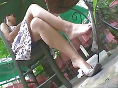 Dangling hot legs