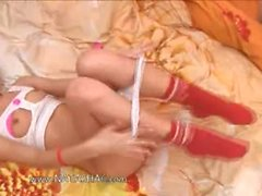 Russian girlfriend Natasha strip