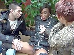 Nette ebony Imane erste Gruppensex Sex