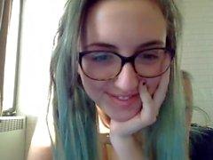 nerdy hipster girl