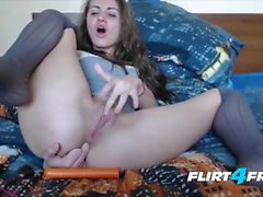 Lez slut rim ass and toy anal cavity with toy in hd