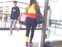 Black Spandex Walking at Mall (busted!)