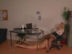 Domme Office Secretary in Stockings_00