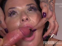 Premium Bukkake - Veronica Avluv swallows 61 huge mouthful c
