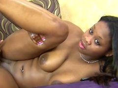 Oiled girl knows how to please a cock