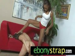Interracial lesbians strapon hard love 4