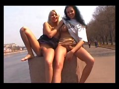 two Moscow public sluts