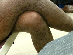 candid czech girl on pantyhose in subway 549-002