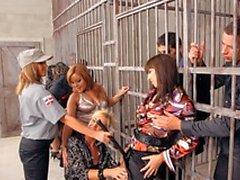 En grupp av slynor samt horny snubbar det in fängelser fan hardcore