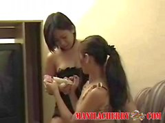 Teen lesbians from Filipines making out for Manila Cherry