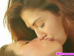 Lesbian babe pussylicked by tongue pierced gf