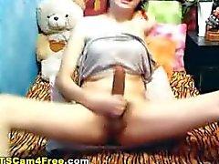 Hornyladyboy mit der erigierten Penis