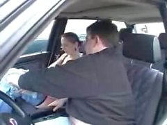 swinger german in car